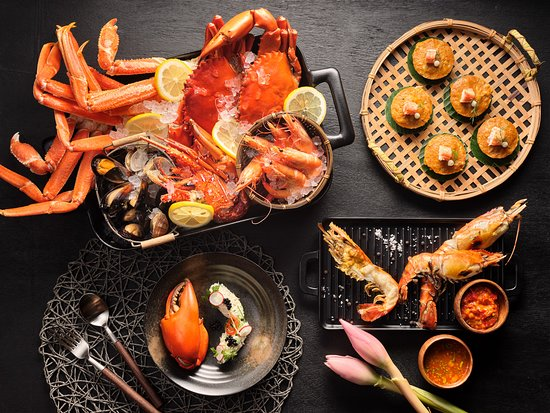 Cajun-style crab legs Feast Buffet